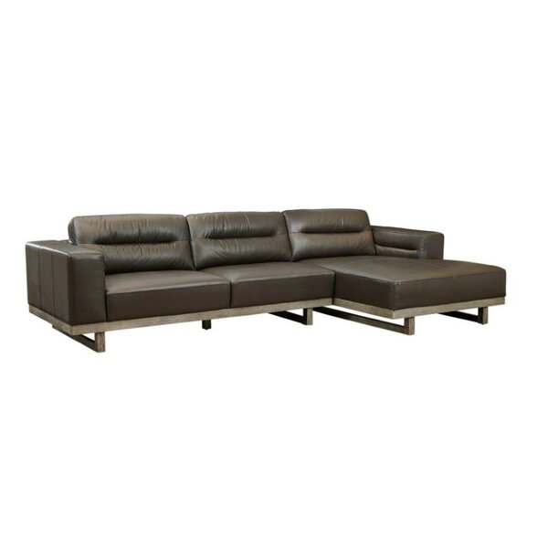 Innocenzio Leather Sectional by 17 Stories