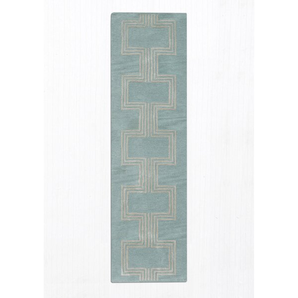Gaydos Hand-Tufted Aqua Area Rug by Brayden Studio