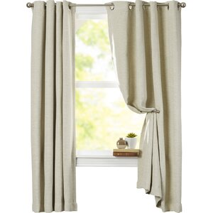 Mosslauder Solid Blackout Grommet Single Curtain Panel