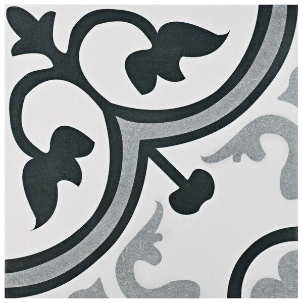 Mora 12.38 x 12.38 Ceramic Field Tile in Gray/White by EliteTile