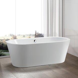 Compare prices 59 x 29.5 Freestanding Soaking Bathtub ByVanity Art