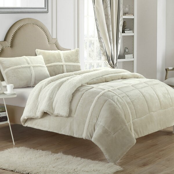 Chloe Sherpa Comforter Set by Chic Home