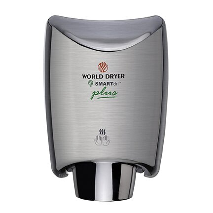 SmartDri Plus Single-Port Nozzle 110-120 Volt Hand Dryer in Brushed Stainless Steel by World Dryer