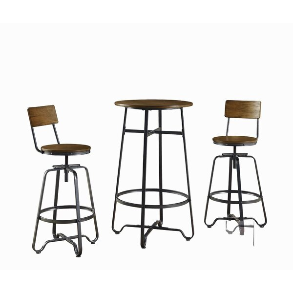 Carrick 3 Piece Pub Table Set (Set of 3) by Williston Forge