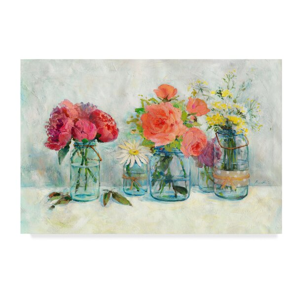 Charlton Home Flowers In Mason Jars