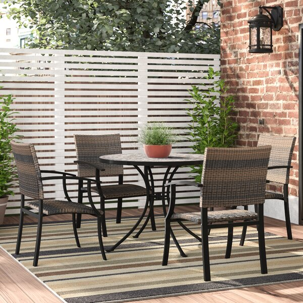 Sequoyah Outdoor 5 Piece Dining Set by Loon Peak