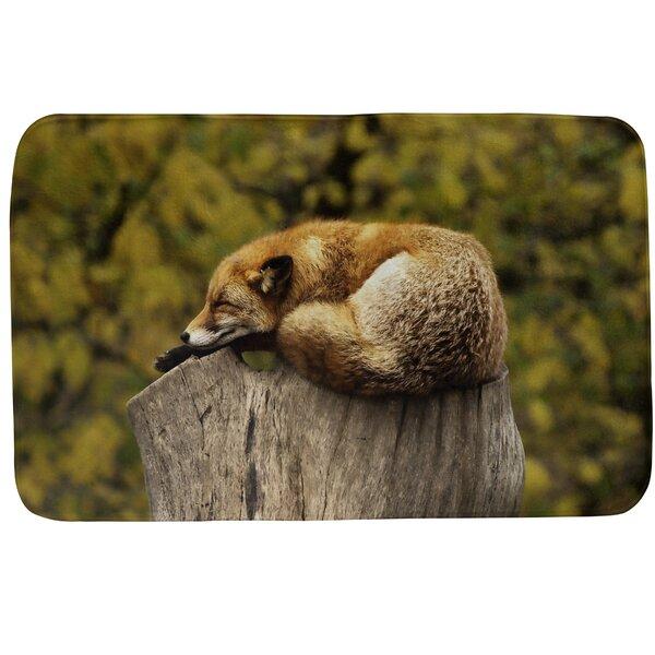 Fawcett Sleeping Fox Rectangle Non-Slip Bath Rug