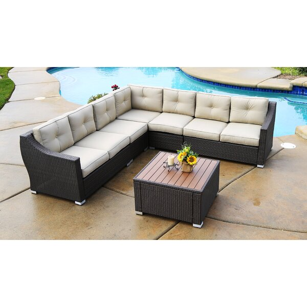 Lanclos 6 Piece Sectional Seating Group with Cushions by Alcott Hill