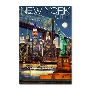 'New York' Vintage Advertisement on Canvas by Trademark Fine Art