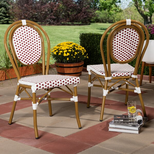 ZanowitZ Stacking Patio Dining Chair (Set of 2) by Bay Isle Home