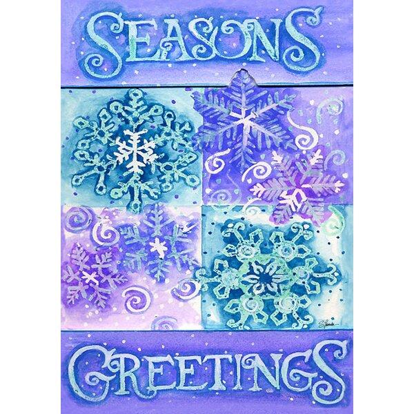Seasons Greetings Garden flag by Toland Home Garden