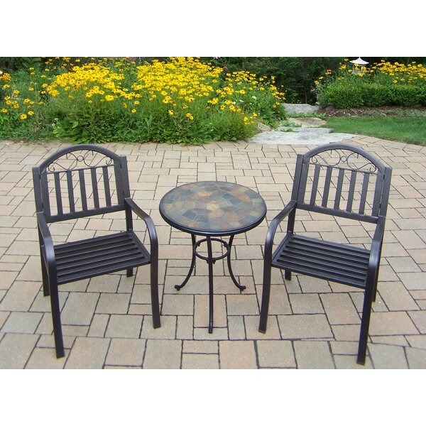 Stone Art Rochester 3 Piece Bistro Set by Oakland Living