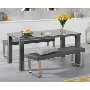 Charmant Petegem Dining Set With 2 Benches