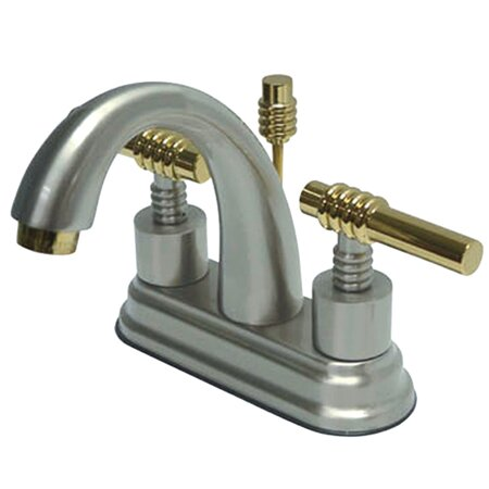 Milano Centerset Bathroom Sink Faucet with Brass Pop-up by Kingston Brass