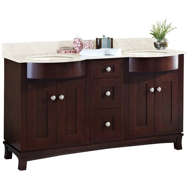 Kester Transitional 60 Double Bathroom Vanity Set by Darby Home Co