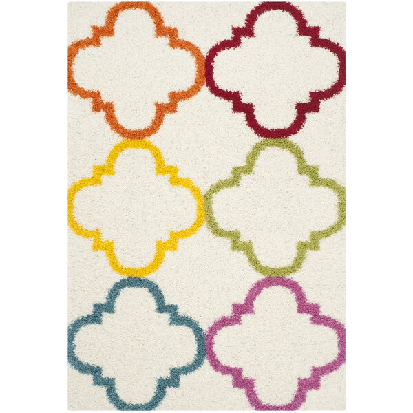Gish Kids Ivory/Yellow Area Rug by Viv + Rae