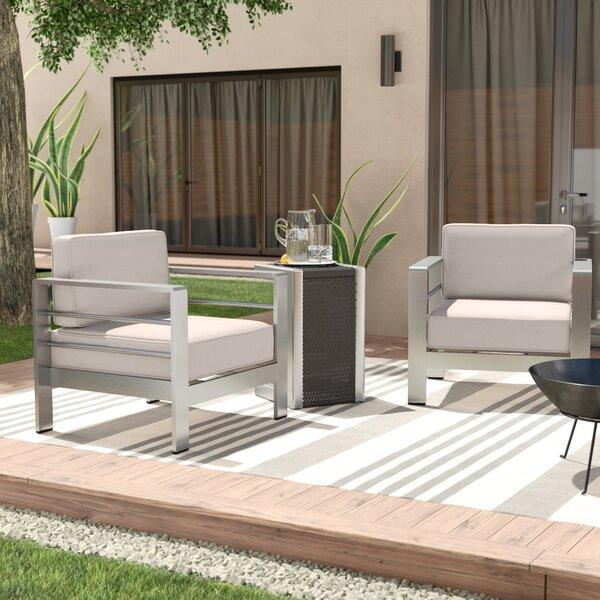 Royalston 3 Piece Conversation Set with Cushions by Brayden Studio