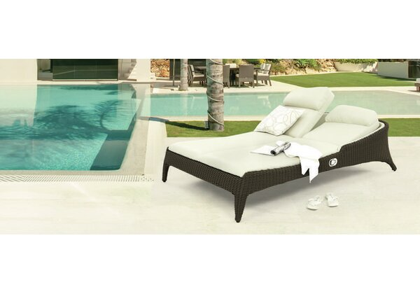 Bellano Double Reclining Chaise Lounge by Domus Ventures Domus Ventures