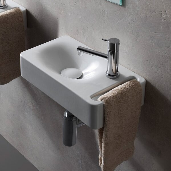 Hung Ceramic 16 Wall Mount Bathroom Sink by Scarabeo by Nameeks