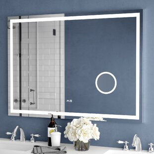 Best Reviews Electric With Clock Bathroom/Vanity Mirror By Wade Logan