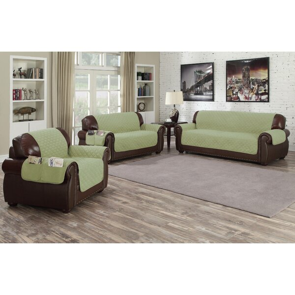 Microfiber Box Cushion Sofa Slipcover By Red Barrel Studio