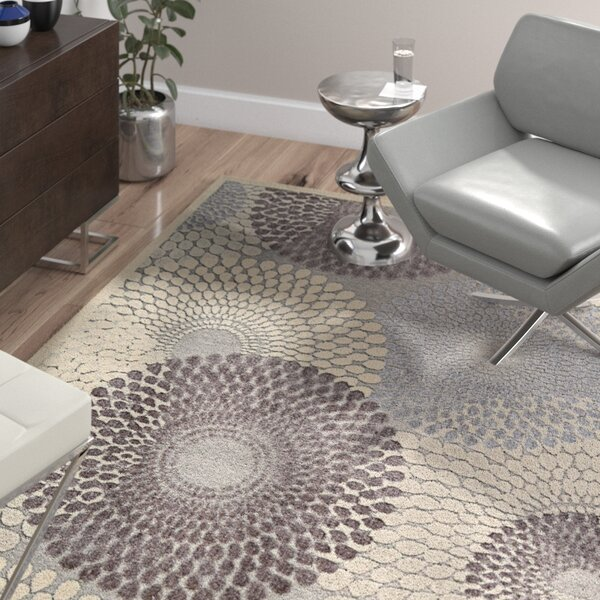 Cangelosi Gray Area Rug by Wade Logan