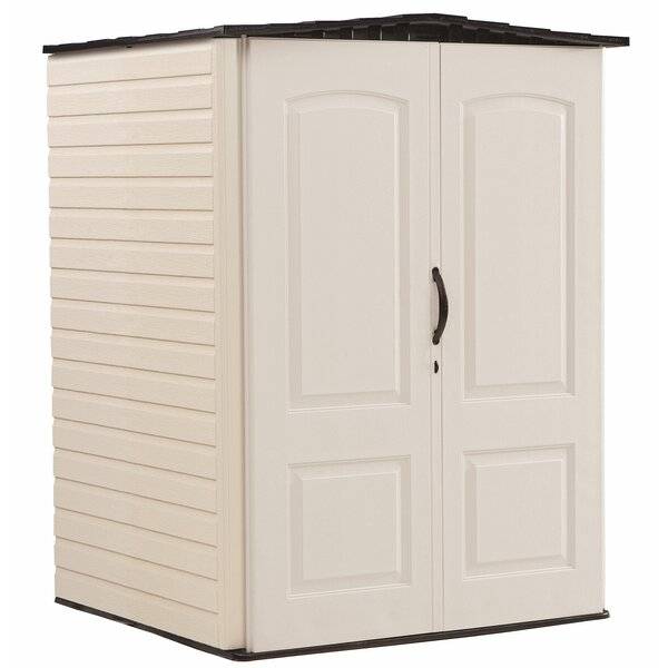 4 ft. 4 in. W x 4 ft. D Plastic Vertical Tool Shed by Rubbermaid