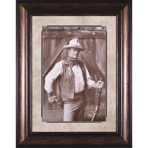 John Wayne by Bob Willoughby Framed Photographic Print by Art Effects