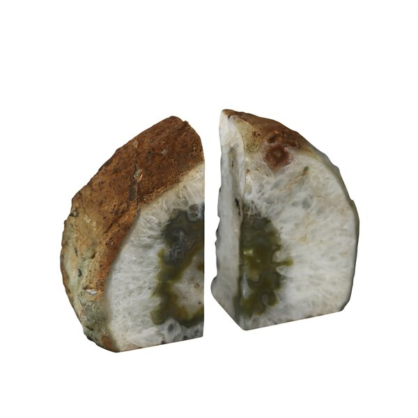 Beautiful Stone Agate Bookends (Set of 2) by Ivy Bronx