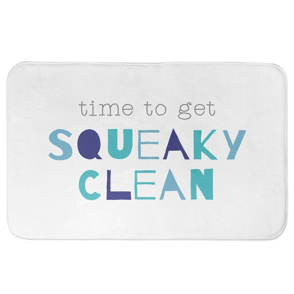 Concetta Time to get Squeaky Clean Rectangle Non-Slip Bath Rug