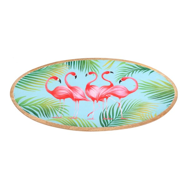 Lynnhaven Flamingo Oval Platter by Bay Isle Home