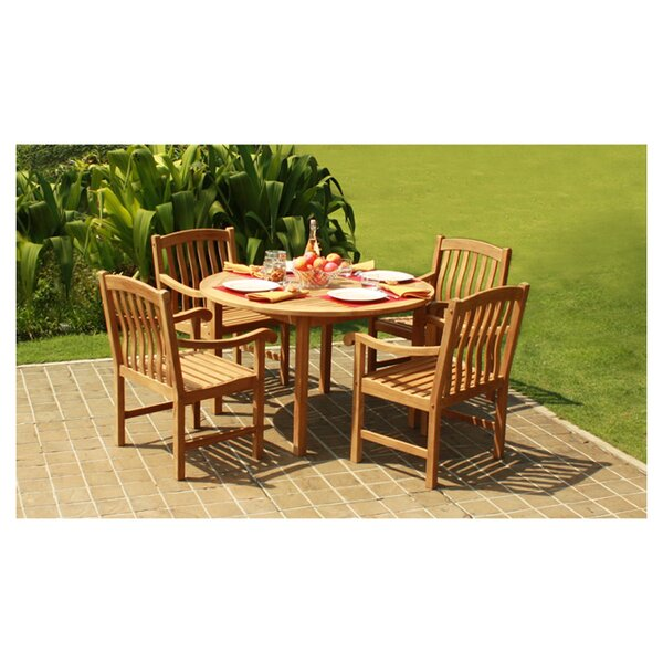 Madison 5 Piece Teak Dining Set by Fullrich Industries