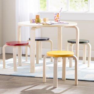 Best Choices Kahn Kids 5 Piece Table & Stool Set ByMack & Milo