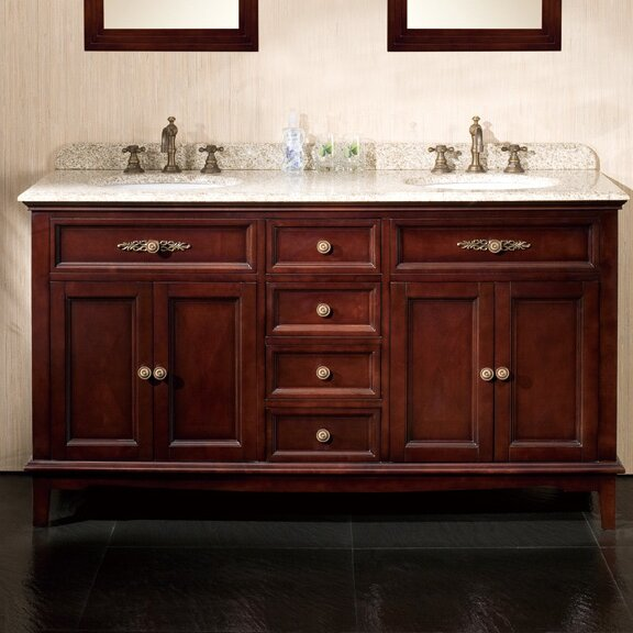 "ove decors roma 60"" double bathroom vanity set & reviews 