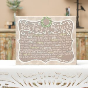 Beautiful The Marriage Wall Decor