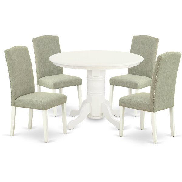 Montreuil 5 Piece Solid Wood Breakfast Nook Dining Set by Winston Porter
