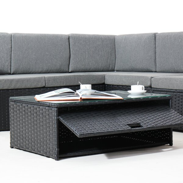 Farrish 4 Piece Rattan Sectional Set With Cushions By Wrought Studio