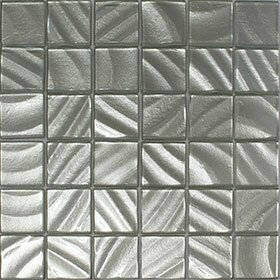 Valverde 3D 2 x 2 Glass/Aluminum Mosaic Tile in Silver by Vetromani