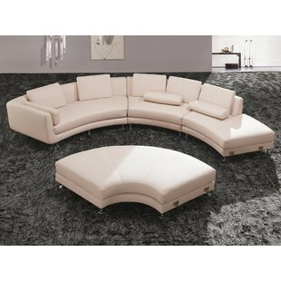 Divani Casa Modular Sectional With Ottoman