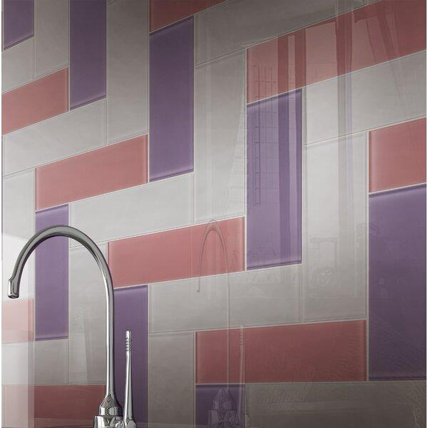 4 x 12 Glass Tile in Purple by Multile