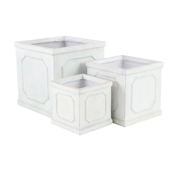 Vicknair 3-Piece Resin Planter Box Set by Ophelia & Co.