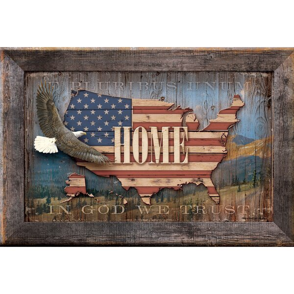 USA Home by Persis Clayton Weirs Framed Textual Art by Wild Wings