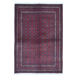 One-of-a-Kind Esperanza Khal Mohammadi Afghan Hand-Woven Wool Red Area Rug Isabelline