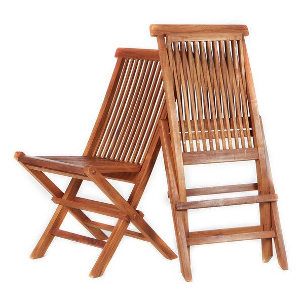 Rockson Folding Teak Patio Dining Chair (Set of 2) by Highland Dunes