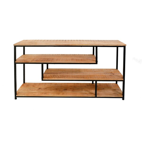 Atterberry Natural Finished Etagere Bookscase by Foundry Select