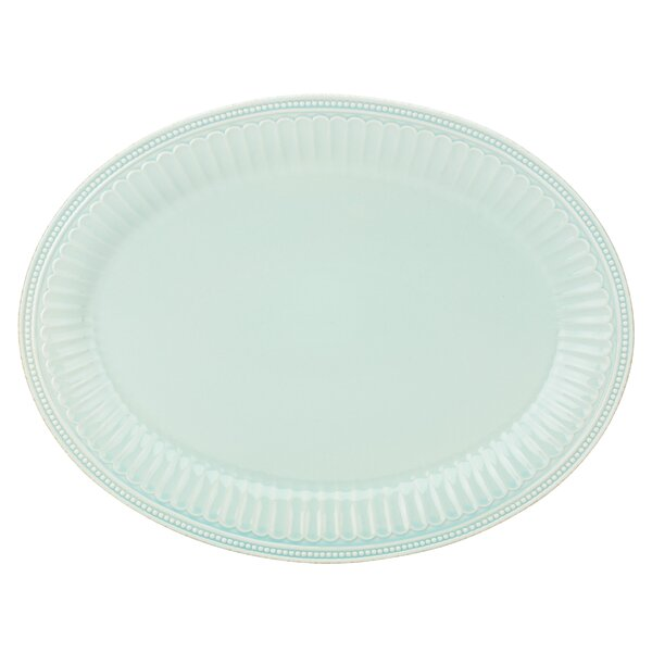 French Perle Groove Oval Platter by Lenox