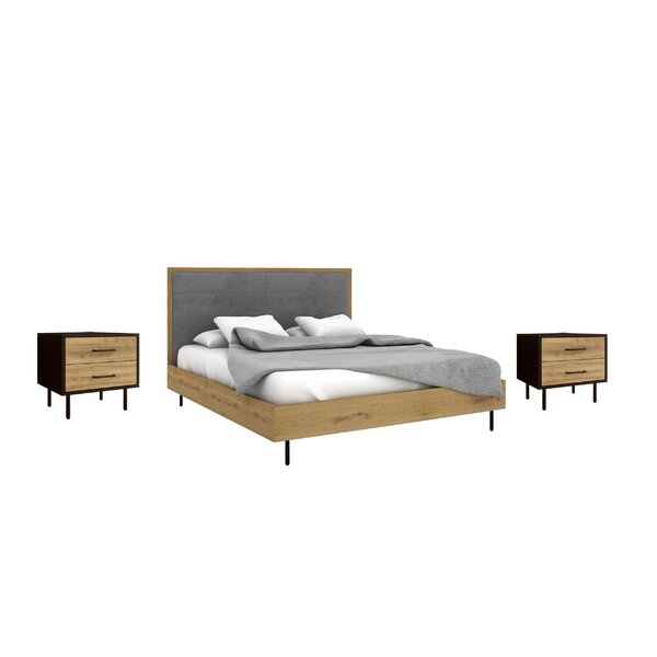 Plummer Queen Platform Solid Wood 3 Piece Bedroom Set by George Oliver