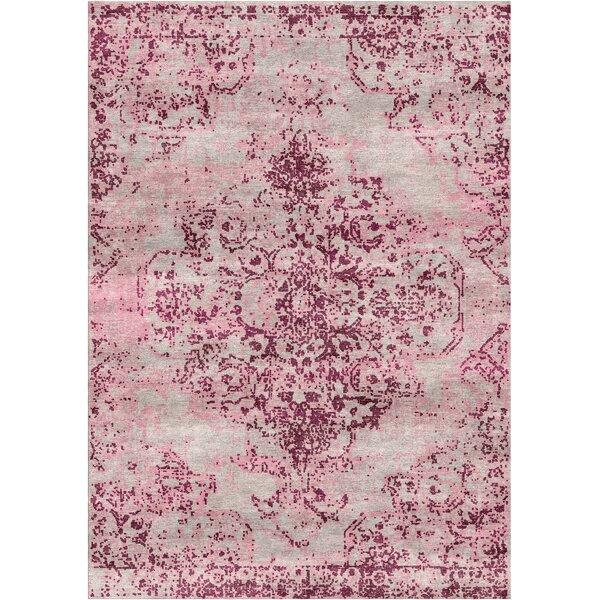 Aliza Handloom Beige/Pink Area Rug by Bungalow Rose