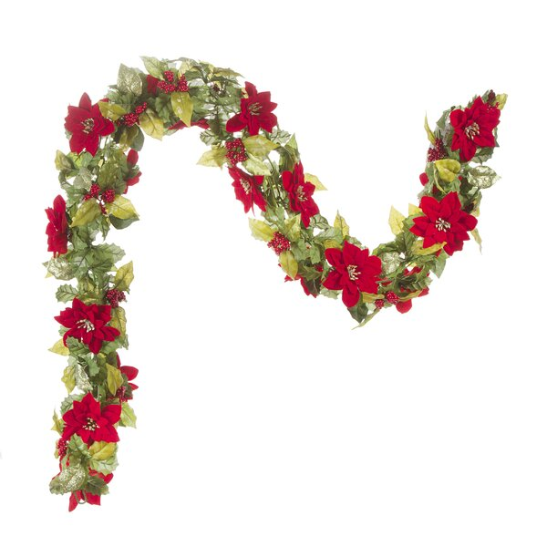 Poinsettia Christmas Garland by The Holiday Aisle