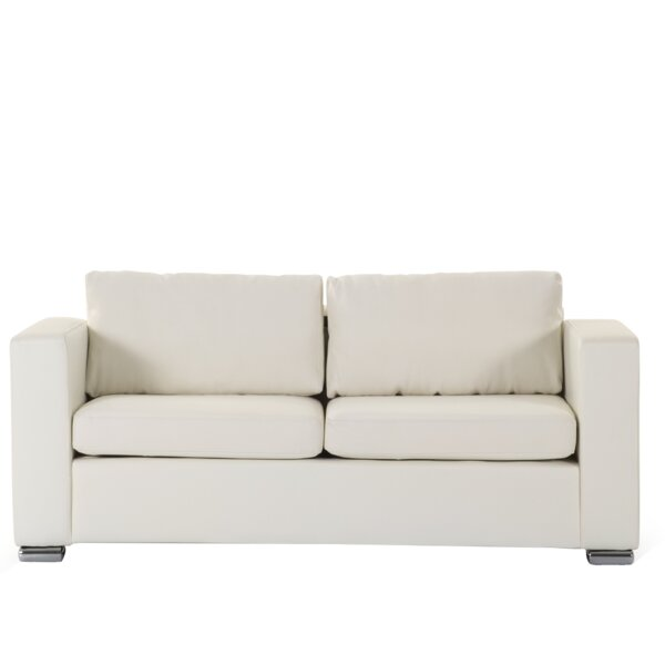 Jordon Leather Sofa by Orren Ellis